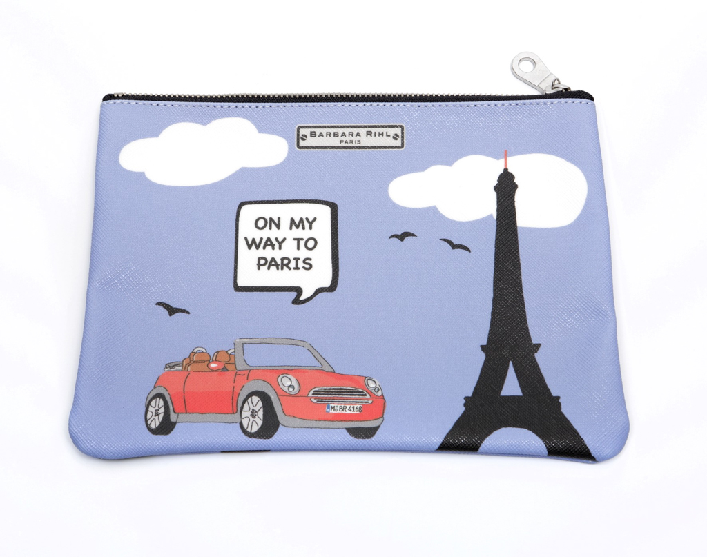 Косметичка Paris is always a good idea Barbara Rihl.<br />Цена: 6 200 руб.